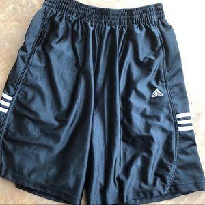 Adidas black athletic shorts Large